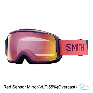 d201f70db622 Smith Optics Grom Youth Snow Goggles - Monarch Warp Red Sensor Mirror One  Size