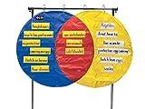 School Smart 85139 Venn Diagram Pocket Chart - 23 Pockets - 54 x 35 1/2 inches