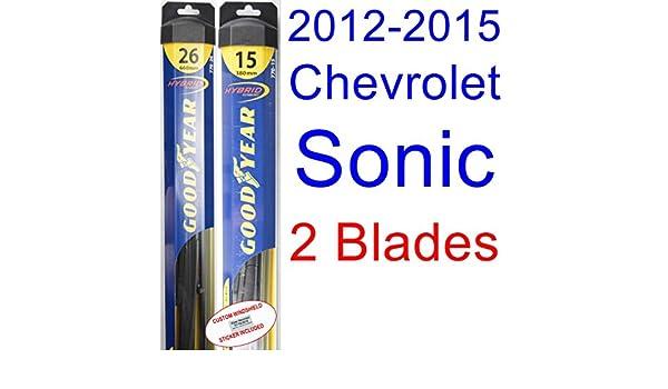 2012 - 2015 Chevrolet Sonic de repuesto para limpiaparabrisas Set/Kit (Goodyear limpiaparabrisas blades-hybrid) (2013,2014): Amazon.es: Coche y moto