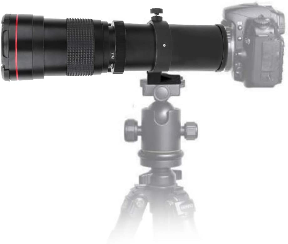 High-Power 420mm//800mm F//8.3-16 Manual Telephoto Zoom Lens for Canon//Sony//Minolta//Nikon//Pentax//Olympus and Other DSLR Cameras.