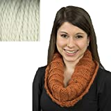 Baby Alpaca Grande yarn Ribbed Cowl Knit Kit - IVORY