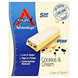 Atkins Advantage Cookies & Cream bars 5 x 30g - Pack of 6
