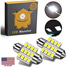 LED Monster 2-Pack White 31mm Canbus Error Free Festoon LED Light Bulbs 12-SMD for Interior Lights Map Dome Door Courtesy Light Bulbs DE3021 3175