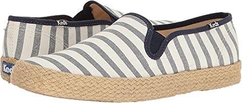Keds Women's Champion Slip Breton Stripe Jute Fashion Sneaker, Cream, 9 M US - Breton Stripe