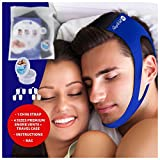 SleepWell Pro (Bundle) Stop Snoring Chin Strap Device & 4 Premium Nose Vents For Deviated Septum