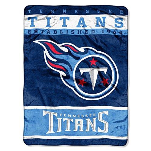NFL Tennessee Titans Plush Raschel Blanket, 60 x 80-Inch, (Tennessee Titans Bedding)