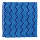 Rubbermaid Commercial HYGEN Microfiber Cloth for Mirrors/Glass, Blue