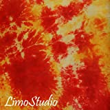 LimoStudio 6 X 9 Ft Photo Studio Deep Orange and Yellow Hand Dyed Backdrop Backgrounds, AGG1353
