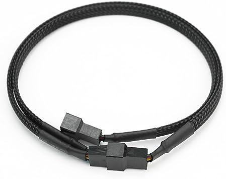 Pinzhi - 4 Pin PWM a Dual Ventilador Caja Ordenador Adaptador Y ...