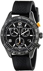 Timex Men's T2P0439J Analog Display Analog Quartz Black Watch
