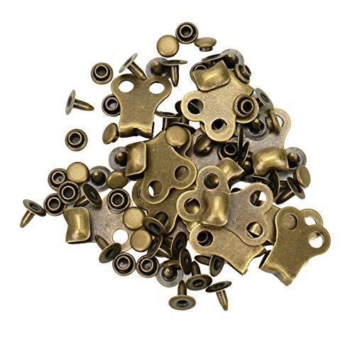 WSSROGY 15 Pcs Boot Lace Hooks Replacement Boot Hook Lace Fittings Rivets Boots Hook Repair Tool
