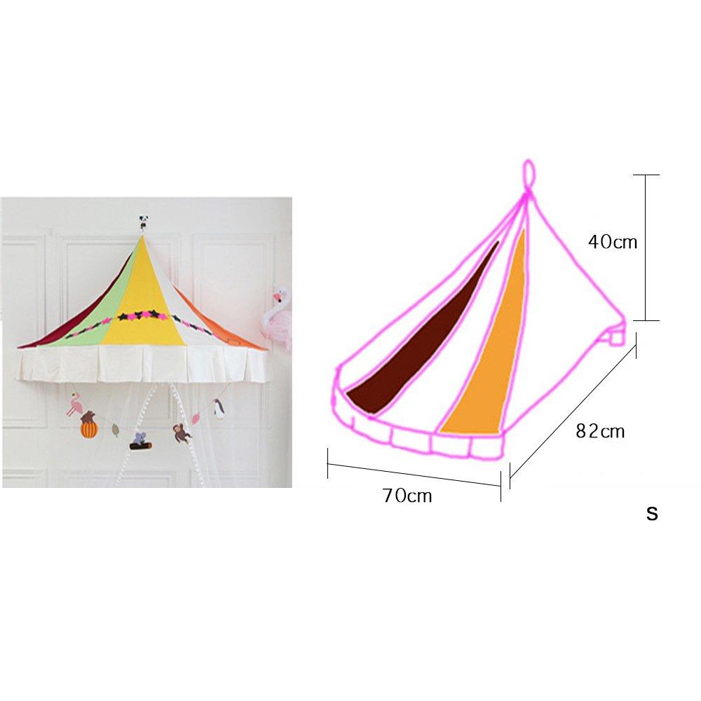 Eckzelte für Kinder Corner Indoor Indoor Corner Spiel Zelte hängende Wand nordischen Stil für Baby Kinder lesen Spielen, (nur EIN Zelt) b257ee