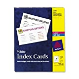 Avery Laser and Ink Jet White 3 x 5 Inch Index Cards 150 Count (5388), Office Central