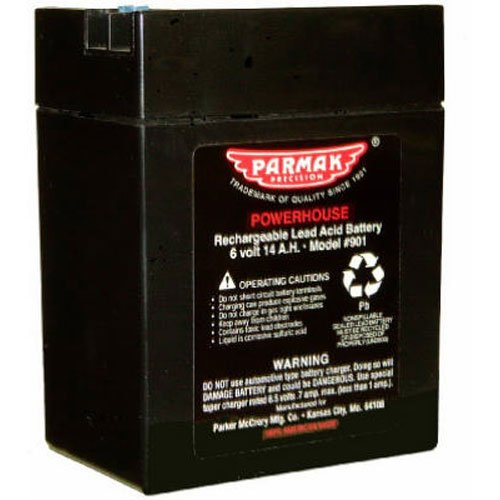 Gel Solar Battery - Parmak 901 6-Volt Gel Cell Battery for Solar Powered Electric Fences