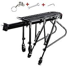 Bike Carrier Rack,West Biking 310 LB Capacity Solid Bearings Universal Adjustable Bicycle Luggage Cargo Rack,Cycling Equipment Stand Footstock