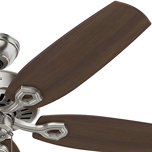 Hunter 53241 Builder Elite 52-inch Brushed Nickel Ceiling Fan with Five Brazilian Cherry/Harvest Mahogany Blades by Hunter Fan Company (Image #3)'