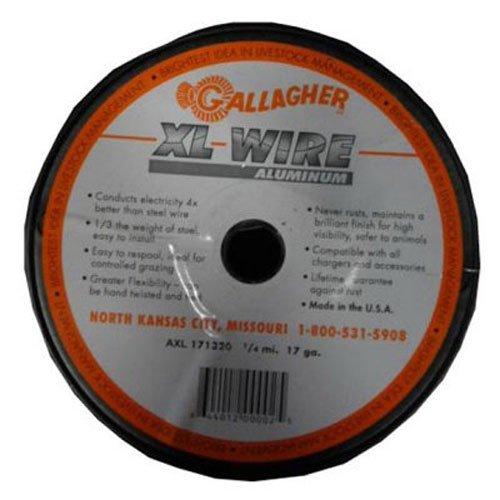 Gallagher AXL171320 1/4-Mile Aluminum Wire Fence, 17-Gauge