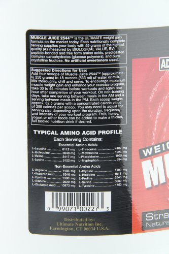Ultimate Nutrition Muscle Juice 2544 Weight Gain Drink Mix, Strawberry, 167.2 Ounces
