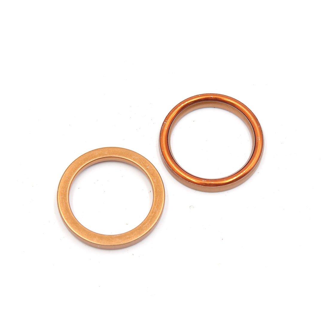 sourcingmap/® 10 pcs 39mm Dia ext/érieur tuyau /échappement Moto M/étal Orange joint pour CG125