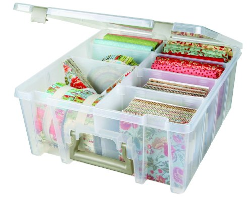ArtBin Super Satchel Double Deep with Removable Dividers:  Clear Art Craft Storage Box,6990AB (Photo Storage Box Dividers compare prices)