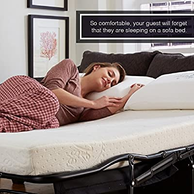 "Nature's Sleep 4.5"" Gel Memory Foam Sofa Sleeper Mattress, Wide Queen"