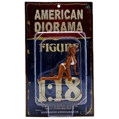 American Diorama 23844 - Véhicule Miniature - Modèle À L'échelle - Figurine Car Wash Girl - Barbara - Echelle 1/18