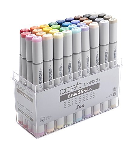 Copic Sketch Marker 36 Piece Sketch Basic Set - Copic Wide Single