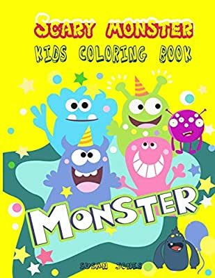 Scary Monster Kids Coloring Book Giant And Jumbo Monsters