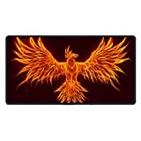 Best Mouse Pad Gaming Pc Monitors - Fire Phoenix Larger Non-Skid Mouse Pad Mouse Mat Review