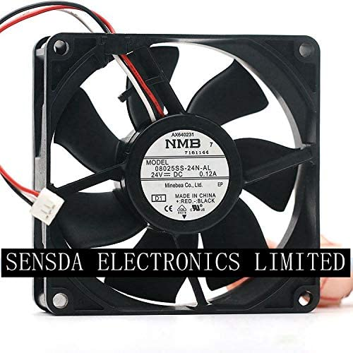 Brand New For NMB 08025SS-24N-AL 8cm 8025 DC 24V 0.12A cooling fan 3100RPM 41.3CFM