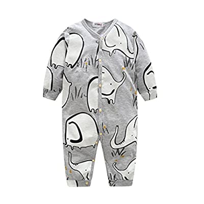 Woaills Kids Rompers Long Sleeve Clothing, 0-24 Monthes NewbornToddler Infant Baby Cartoon Elephant Jumpsuit