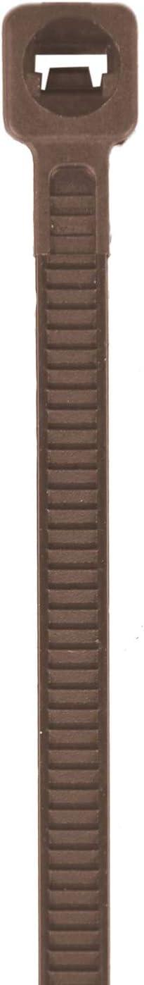 Faura 3,6x300 mm - Bridas Multiusos Nylon Marr/ón 50 Unidades