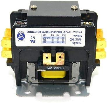 C230A 91221 Definite Purpose Contactor 2 Pole 30 A 24 Coil V replaces 45EG20AJ