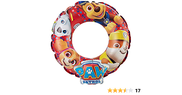 Paw Patrol Nickelodeon Outdoor Inflatable Swim Ring Multi Colour Pool Floats,Water Fun Summer Beach Toy for Kids