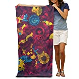 water right water softener - Super Absorbent Beach Towel Psychedelic Wallpaper Polyester Velvet Beach Towels 31.551.2 Inch