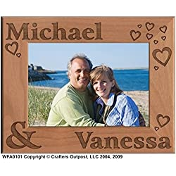 Couple Personalized Alder Wood Photo Frame