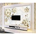 LIWALLPAPER-Carta-Da-Parati-3D-Fotomurali-Fiori-Geometrici-In-Marmo-Camera-da-Letto-Decorazione-da-Muro-XXL-Poster-Design-Carta-per-pareti-200cmx140cm