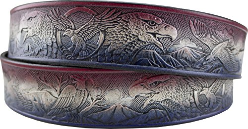Eagles Embossed Leather (Springfield Leather Company's Jewel-toned Eagle Embossed Freedom Leather Strip)