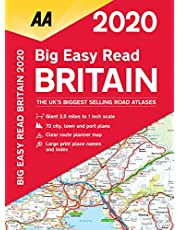 Big Easy Read Britain 2020 Spiral bound (AA Road Atlas Britain)