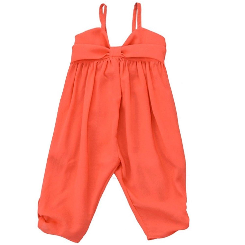 lele Big Girls Red Flat Bow Button Detail Spaghetti Strap Jumper 8