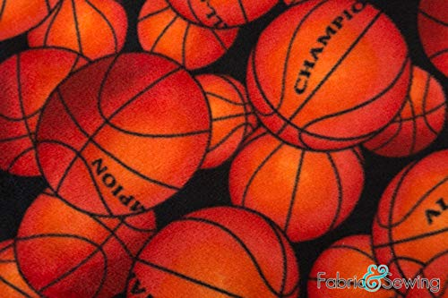 - Basketball Anti-Pill Polar Fleece - Plush Fabric Polyester 13 Oz 58-60