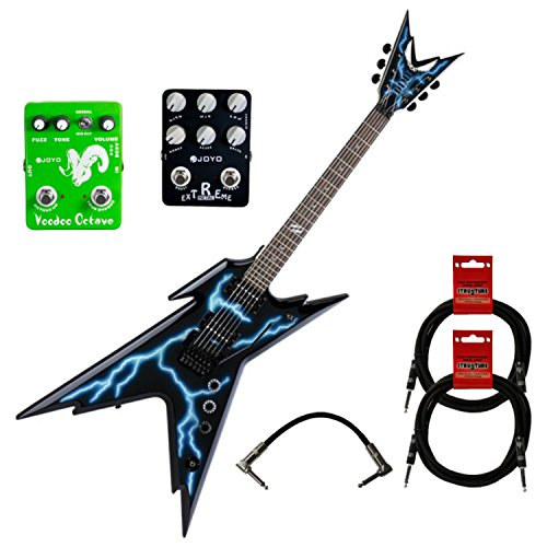 Dean RZR DB F LTNG Razorback Dimebag Floyd Lightning w/Case, Cables, and Effects Pedals (Dimebag Electric Guitar Dean Razorback)