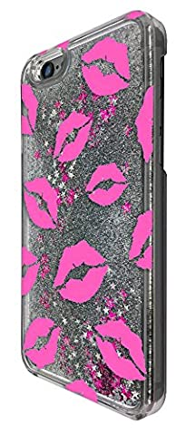 c00728 - Kylie Lips Pink Kisses Sexy Multi Collage Design For iphone 7 Plus 5.5'' Fashion Trend CASE Protective Cover Liquid Floating Luxury Bling Glitter star Sparkle Case - Lip Cell Phone Case