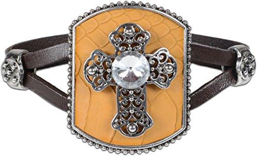 Cross Rhinestone Contempo Christian Bracelet