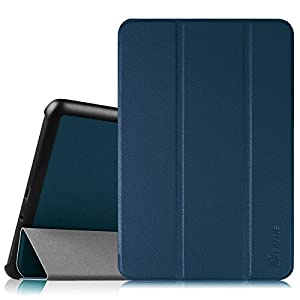 Fintie Slim Shell Case for Samsung Galaxy Tab A 8.0 (Previous Model 2015) - Super Slim Lightweight Standing Cover with Auto Sleep/Wake Feature for Tab A 8.0 SM-T350/T355/P350/P355 2015 Release, Navy