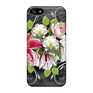 Excellent Design Flowers Case Cover For Iphone 5/5s