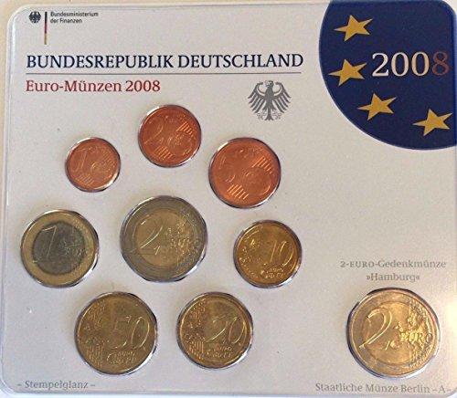 DE 2008 2008 A Germany Official Euro 9 Coins Set Special Good