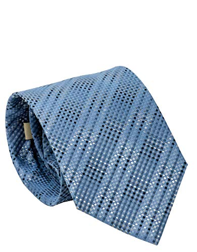 - Burberry Jacquard Twill Textured Mens Wide Cut Silk Necktie (Dusty Blue)