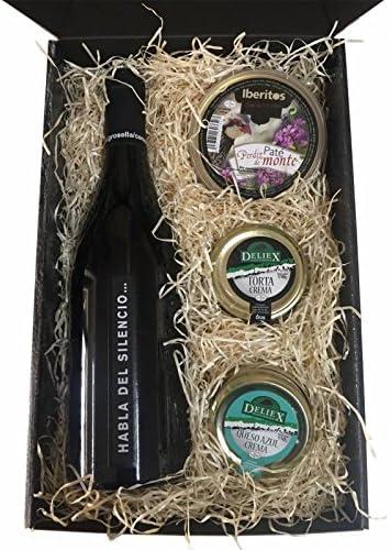 cesta de regalo Navidad en estuche con vinos y cremas de