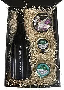 cesta de regalo Navidad en estuche con vinos y cremas de quesos y paté: Amazon.es: Alimentación y bebidas
